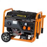 Generator de curent electric Stager GG 7300EW, 6300 W, monofazat, benzina, pornire electrica