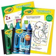 Bendon 44619-Amz Crayola Educational Workbook/Sticker Book Bundle, Preschool