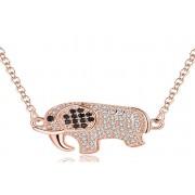 Genova International Ltd £14 instead of £49 for a Rose Gold Crystal Elephant Necklace from Genova International Ltd - save 71%