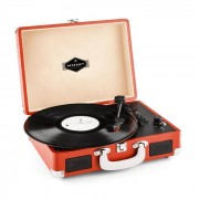 Auna Peggy Sue Red Tocadiscos retro Vinilo LP USB Line Out Naranja oscuro (TTS6-PEGGY-SUE-DOR)