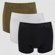 MP Men's Sport 3 Pack Boxers - Black/Khaki/White - L