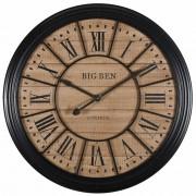 Maisons du Monde Reloj de metal negro D.100 cm EDVIN