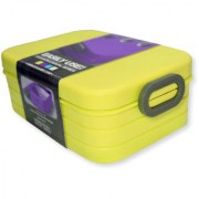 6th Dimensions Microwavable Air Tight Lunch Boxes Plastic Food Container (Green)