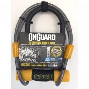 Candado OnGuard 8015M Tipo U Lock Con Cable Para Bicicleta Mediano