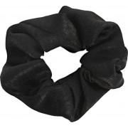Zwarte scrunchie satijn look