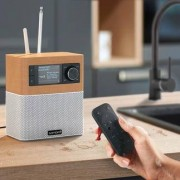 Sonoro sonoroSTREAM Musiksystem, UKW/DAB+ Radio, USB, WLAN, Ahorn / Weiss