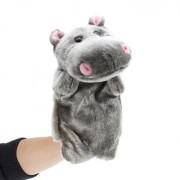 27cm Baby Plush Toys Cute Cartoon Hippo Hand Puppet