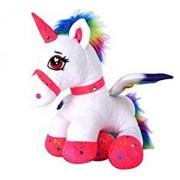 Jucarie plus Globo, unicorn din plus pentru fetite, 44 cm, Roz