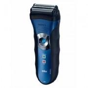 Aparat de barbierit Braun 340, Acumulator, 1 cap, Albastru