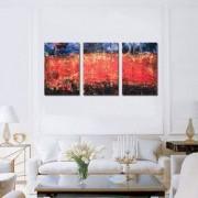 Tablou Canvas Premium Abstract Multicolor Trei Dungi Decoratiuni Moderne pentru Casa 3 x 70 x 100 cm