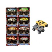 """Monster Truck Toy Set - Turbo wheels, 8 Assorted Styles of 3"""" Mini Monster Trucks, Bundled with 2 Turbo wheels Lights & Sounds Off Road Vehicles, 4 in."""