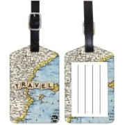 Nutcaseshop Map Design Luggage Tag(Multicolor)