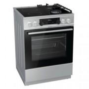 Готварска печка Gorenje KC6355XT, клас А, 4 нагревателни зони (2 стъклокерамични/2 газови), 67 л. обем, AquaClean почистване, Система за сигурност, инокс