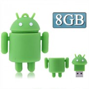 8GB Android Robot Style USB Flash Disk (Green)