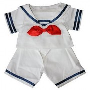 Sailor Boy w/Hat Outfit Teddy Bear Clothes Fit 14 - 18 Build-A-Bear Vermont Teddy Bears and Make Your Own Stuffed Animals
