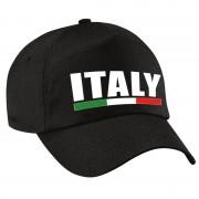 Bellatio Decorations Italy supporter pet / cap Italie zwart kinderen