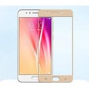 Tempered Glass For Oppo F3 Full Screen Golden Colour Standard Quality
