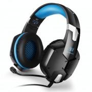 KOTION elk G1200 professionele 3 5 mm Plug bas Stereo hoofdtelefoon met microfoon voor PS4 Smartphone Tablet Computer Notebook(Blue)