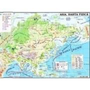 Asia - Harta Fizica + Harta Politica 1 46.000.000 pliata
