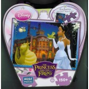 Mega Puzzles Disney Princess and the Frog Night Scene 150 Piece Puzzle and Heart Shaped Tin Box