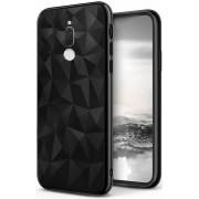 Protectie spate Senno Pure Flex Slim Diamond TPU pentru Huawei Mate 10 Lite (Negru)
