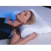 Perna ortopedica din spuma cu memorie, ideala pentru somn si relaxare, dimensiuni 49x28x9cm, culoare Alb