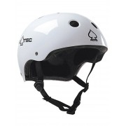 PRO-TEC Classic Certified Helmet : gloss white - Size: Extra Small