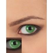 Vegaoo Groene UV contactlenzen voor volwassenen One Size