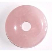 Donut ou pi chinois quartz rose 3cm