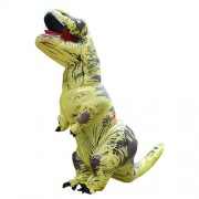 Inflatable Dinosaur Adult Costume Halloween Inflated Dragon Costumes Party Carnival Costume for Women Men(Yellow) -HC5641Y