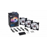 Coolermaster Masterfan Air Balance starter kit - RGB led 120mm x3
