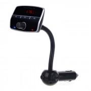 500E Car Dual USB Charger / Reproductor de MP3 con manos libres Bluetooth - Negro