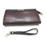 Gorgeous Women Brown, Black Genuine Leather Wrist Wallet(6 Card Slots)
