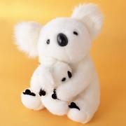 White Plush Koala Cartoon Motherchild Koalas for Baby Stuffed Animal Dolls