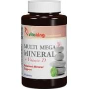 Vitaking MultiMega (Multi Mega Mineral) + D-vitamin tabletta 90db