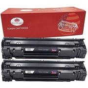 Toner Kingdom Compatible with HP CE285A 85A LaserJet Toner Cartridges - 2 Pack Black