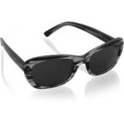 DKNY Retro Square Sunglasses(Black)