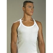 Lord Mr Big Shoulder Strap Tank Top T Shirt White 1521