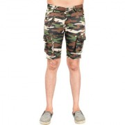 Waiverson Men Army Print Shorts with 7 Pockets Camouflage Cargo for Men Boys