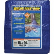 Dize Blue Poly Tarp - 18ft. x 24ft., Model PT1824