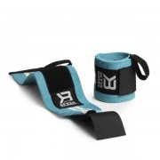 Better Bodies Womens Wrist Wraps One Size Aqua/White