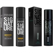 signatue collection fresh spicy deo body spray for men pack of (2) pcs