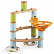 Set de construit rollercoaster din bambus Fat Brain Toys, bile incluse