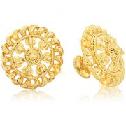 Vighnaharta Traditional 1gm Gold South Screw Back Alloy Gold and Micron Plated Stud Earring- VFJ01122ERG