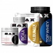 Kit Top Whey 3W + Albumina + BCAA + Creatina