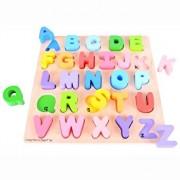 Puzzle lemn - Alfabet, 26 piese