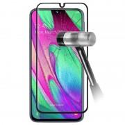 Protector de Ecrã de Vidro Temperado 9D para Samsung Galaxy A40 - Preto
