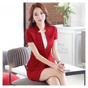 Trajes Para Mujer Faldas Y Sacos Formales De Oficina Y Negocio - Rojo