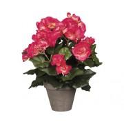 Floare artificiala, begonie, roz