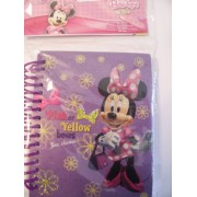 Disney Minnie Mouse Bow-tique ~ Holographic Spiral Journal (Pink or Yellow Bows)